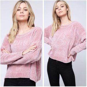 LAST!!! 🛍 Chenille Sweater - Pink